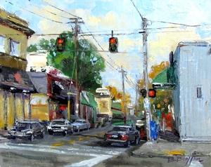 Pause On Sellwood  8x10 Oil